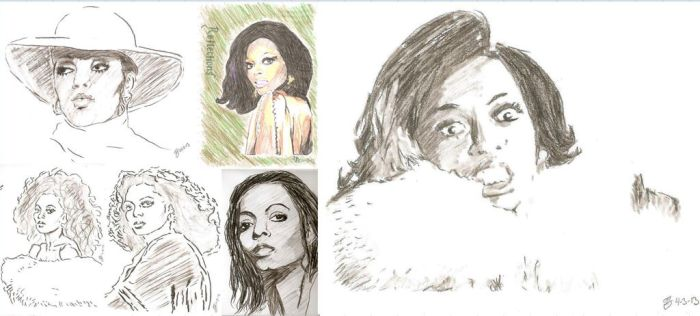 Diana Ross drawing by SBdrawings
