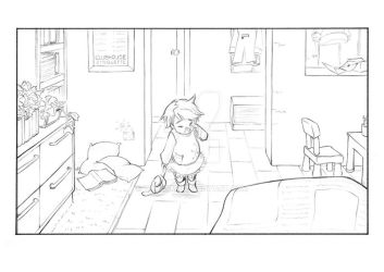 Room Line Drawing #2 by taleism