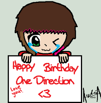 Happy Birthday One Direction. by Ayleia-The-Kitty
