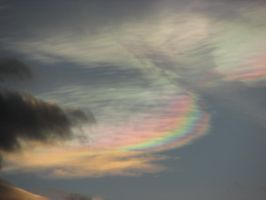 Rainbow In The Clouds by Heidi-V-Art