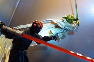ACBA YODA VS. MAUL by Lucidaemon