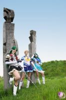Outer Sailor Senshi - trio by FairyDustProductions