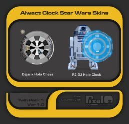 Alwact Clock Star Wars Skins Twin Pack by PixelOz