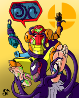 Smash Tickles Part 3 (Samus) by SymbionTickles