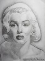Marilyn Monroe full drawing by noworries1980