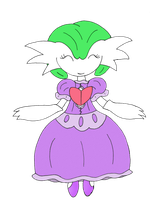A Mega Gardevoir's Fancy Purple Dress by Unownace