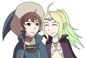 Nowi and Ricken by Xippe