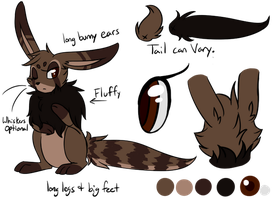 Fursona Reference - Feral Bunny by TheMidnightMage