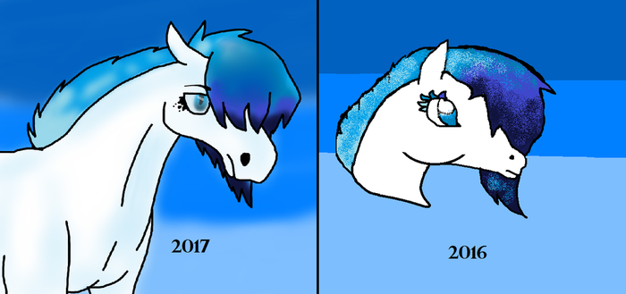 One Years Difference by WhisperMeow
