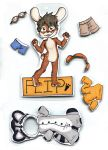 Commission: Flip Magnetic dress up badge 1 by Naoru