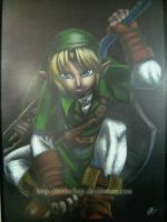 pencil colored Link by eERIechan