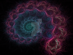 Another variation of the colored spiral fractal by Eternatease