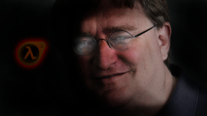 Gabe Newell by Melthurian