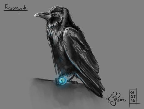 30 Day Story-Sketch Challenge: Day 8: Ravenspeak by Dreamspirit