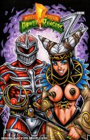 Lord Zedd + Rita Repulsa sketch cover by gb2k