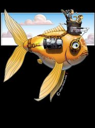 Steampunk Fish by tobys-brain