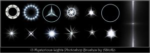 13 Mysterious Lights Brushes by AStoKo by AStoKo