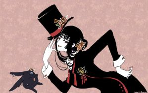 XXXHolic: Yuko and Mokona by carichan
