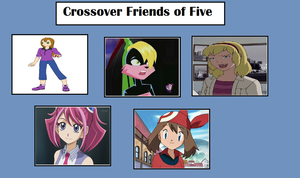 Brianna's Crossover Friends of Five by MarioFanProductions