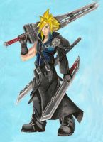 Cloud Strife by leeuf