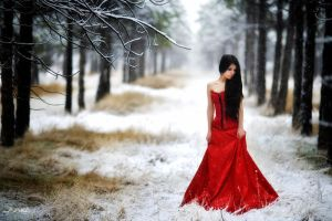 lady in red III by intels