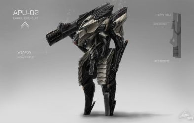 NEW MECH/EXO-SUIT DESIGN/CONCEPT ART! by nobody00000000