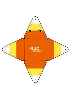 Candy Corn Box Template by hellohappycrafts
