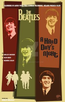 Beatles movie poster concept by Euri22