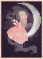 The Girl in the Moon by saraah11