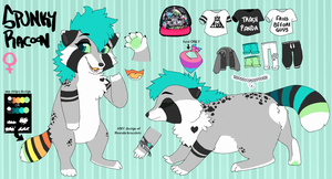 (OLD) Spunky Racoon Fursona Reference Sheet by SpunkyRacoon