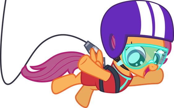 Bungee-jumping Scootaloo by CantercoltZ
