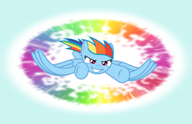 Rainbow Dash Racing by imageconstructor