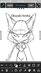 Okazaki Aneka Chief of the Genocide Cats (Wip) by SolinTheDragon