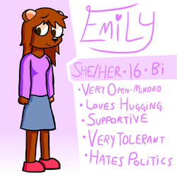 Emily Reference (New OC!) by TeeHeeVE
