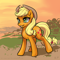 Speedpaint 03 - Applejack by KP-ShadowSquirrel