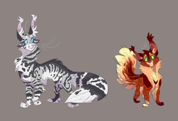 Feathertail and Squirrelflight by WeHaveCandy