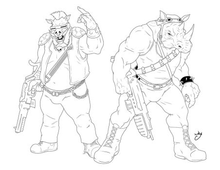 Bebop and Rocksteady by JOEYDES