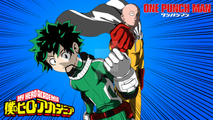 Boku No Hero Academia x One Punch Man by Ghost-Troupe