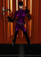 Catwoman Purple Outfit by dragonzero1980