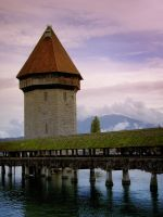 Kappelbruecke and Wasserturm by bensalamin