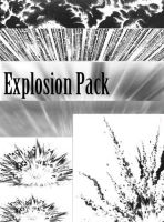 Screentones - Explosion Pack by AmethystArmor
