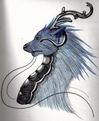 Blue Dragon by STANDup-beSTRONG