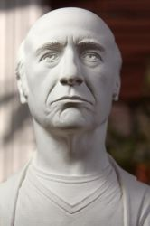 Larry David classical bust (face detail) by CG-imagery