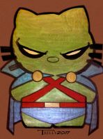 Martian Manhunter Kitty by Tom Kelly by TomKellyART