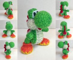 Yarn Yoshi from Yoshi's Woolly World by ToodlesTeam