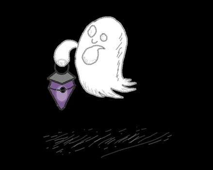 Spoopy the ghost by CPtheLunarGoat
