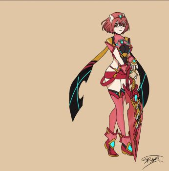 (Commission) Pyra Command by RadianceDashZelda