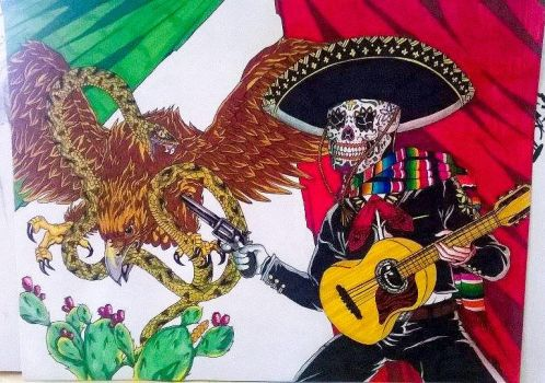 mexican flag by anthonymichaelmoreno