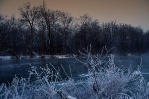 Icy River by jmarie1210