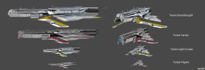 Turians Ships Concept by nach77
